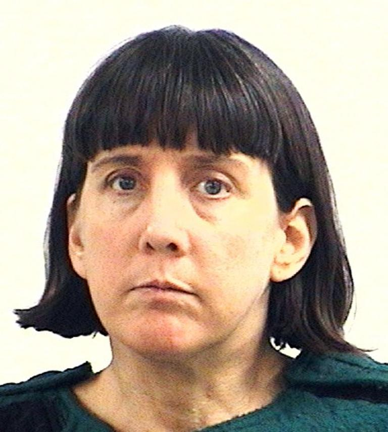 This police booking photograph released by the Huntsville (Ala.) Police Dept., on Saturday, Feb. 13, 2010, shows college professor Amy Bishop. (AP Photo/Huntsville Police Dept.)