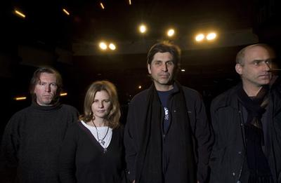 The Cowboy Junkies in Madison, Wis. From left to right are Alan Anton, Margo Timmins, Michael Timmins and Peter Timmins. (AP)