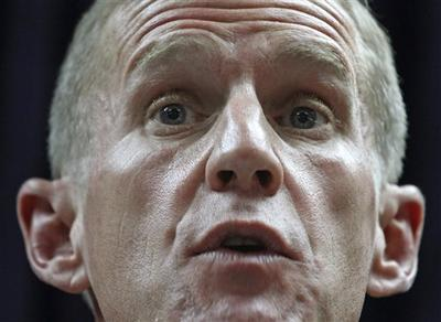 U.S. Gen. Stanley McChrystal, the commander of the NATO and U.S. forces in Afghanistan, speaks during a press conference in Kabul, Afghanistan in May. (AP)