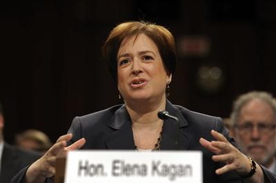 Supreme Court nominee Elena Kagan testifies confirmation hearings before the Senate Judiciary Committee at the U. S. Capitol in Washington. (AP)