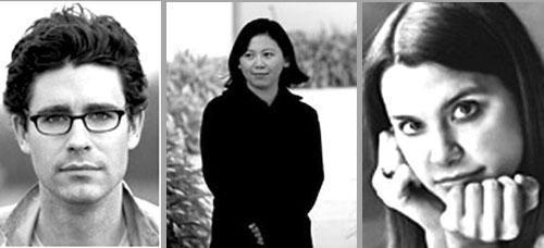 From left: Joshua Ferris, Yiyun Li, Nell Freudenberger (Credits: author Websites; Freudenberg picture by Marion Ettinger)