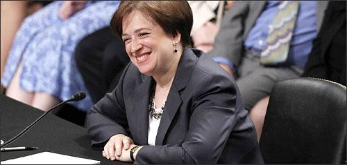 Supreme Court nominee Elena Kagan on Capitol Hill in Washington, June 29, 2010. (AP)