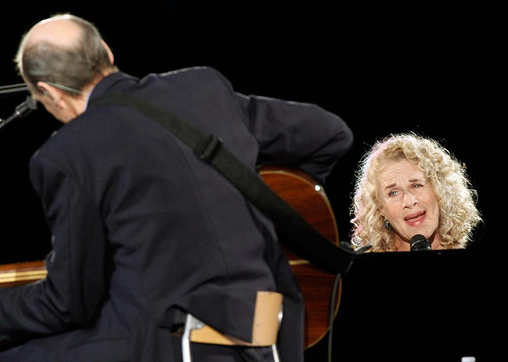 James Taylor and Carole King performed in Pittsburgh on June 26. (Keith Srakocic/AP)