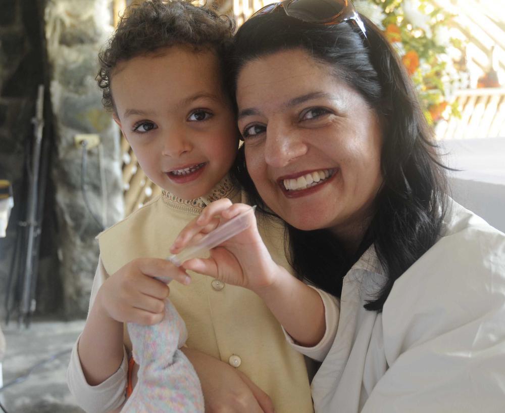 Devan Tatlow and his mother, Indira Lakshmanan.