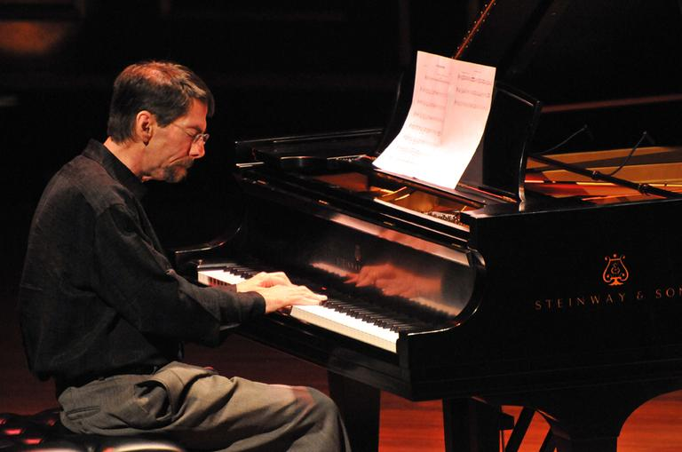 Fred Hersch performs at Jordan Hall in Boston. (Andrew Hurlbut/NEC)