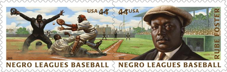 "New stamps commemorate the Negro Leagues and Andrew ""Rube"" Foster, the ""father of Negro Leagues baseball."" (AP)"