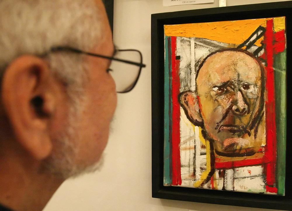 William Utermohlen painted a series of self-portraits to document the progressive ravaging of his brain by Alzheimer's disease. (AP)