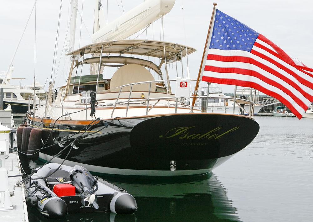 """Isabel"" is the $7 million, 76-foot yacht owned by Sen. John Kerry, seen here in Portsmouth, R.I. By docking the yacht in neighboring Newport, he was able to avoid about $500,000 in taxes to Massachusetts. (Stew Milne/AP)"