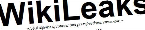 WikiLeaks tag line...