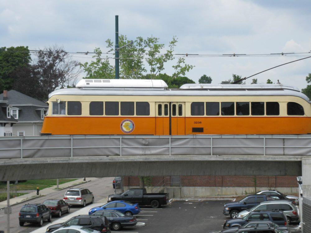 The Mattapan trolley is a sight for sore ears. (Meghan Keane/WBUR)
