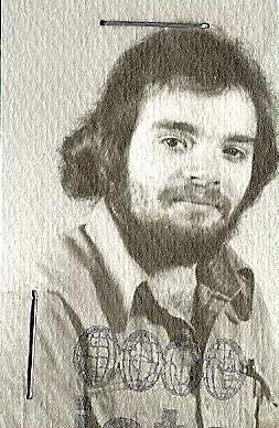 Bob Oakes' international student ID, dated Dec. 8, 1975