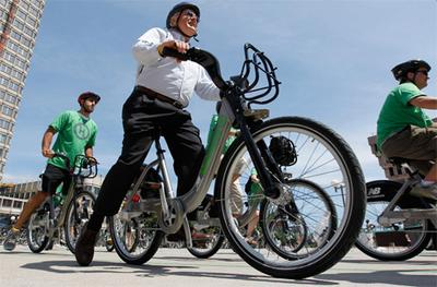 The Hubway bike share program launched in Boston in 2011. (AP File)
