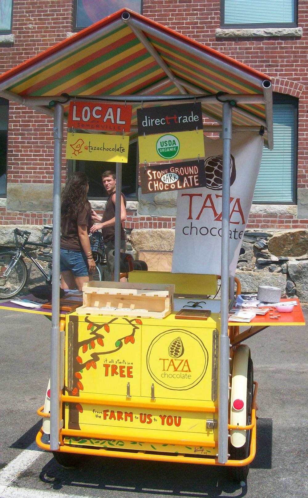 The Taza Chococycle at the Boston Food Truck Festival. (Sarah Knight/WBUR)