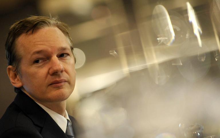 WikiLeaks founder Julian Assange speaks during a news conference in London in October. (AP)