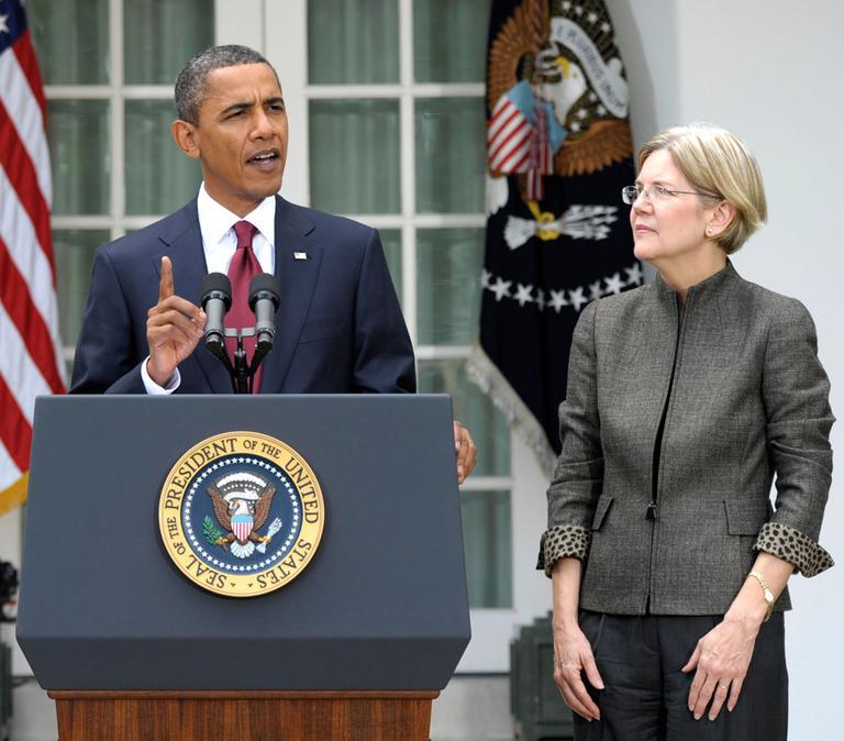 President Obama and Elizabeth Warren in September 2010 (AP)