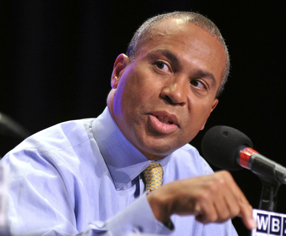 Democratic Gov. Deval Patrick, responds to a question during a debate in Braintree, Mass., Tuesday, Sept. 14, 2010. (Josh Reynolds/AP)
