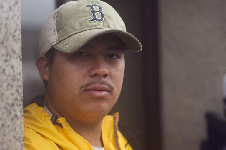 Melvin Jarquin, 24, immigrated from Guatemala two years ago. He is here illegally. (Jess Bidgood for WBUR)