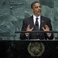 President Obama addresses a summit on the Millennium Development Goals at United Nations headquarters in New York. (AP)