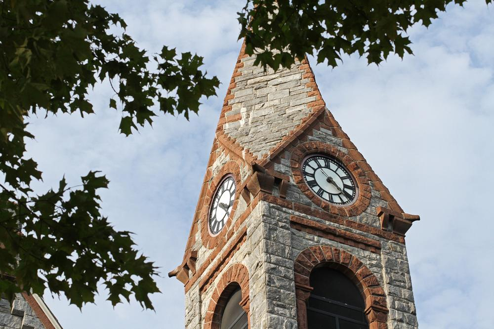The Old Chapel at UMass Amherst sure is pretty. But it's falling apart. (Andrew Phelps/WBUR)