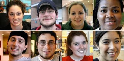 UMass Amherst students (Photos by Kirk Carapezza for WBUR)