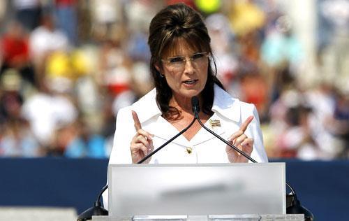 "Former Gov. Sarah Palin speaks at the Glenn Beck ""Restoring Honor"" rally in Washington, Aug. 28, 2010. (AP)"