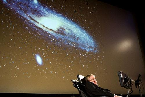 Stephen Hawking in Geneva, Switzerland, Sept. 15, 2009. (AP)