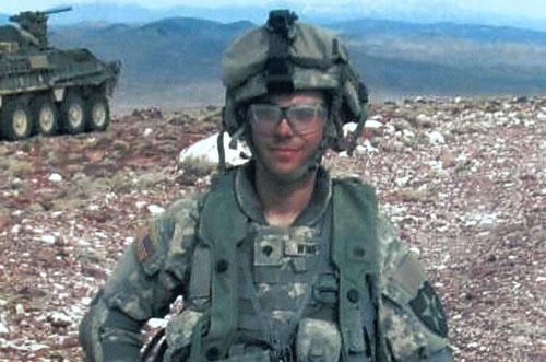 U.S. Army Spc. Adam Winfield while on duty in Afghanistan. Winfield is accused of murdering civilians during his deployment to Afghanistan, a charge he and his family firmly refute. (AP)