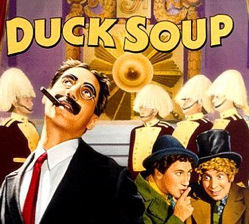 """A movie poster for the Marx Brothers' 1933 film """"Duck Soup"""" (Credit: IMdb.com)"""