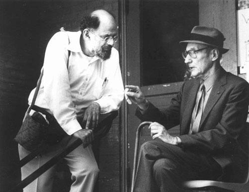 Allen Ginsberg, left, and writer William Burroughs (AP)