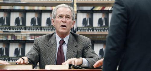 Former President George W. Bush in Dallas, Nov. 9, 2010. (AP)