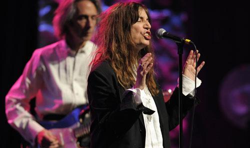 Patti Smith performs at the 27th Annual ASCAP Pop Music Awards, April 21, 2010, in Los Angeles. (AP)