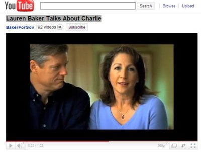 Charlie Baker's campaign ad featuring his wife, Lauren.