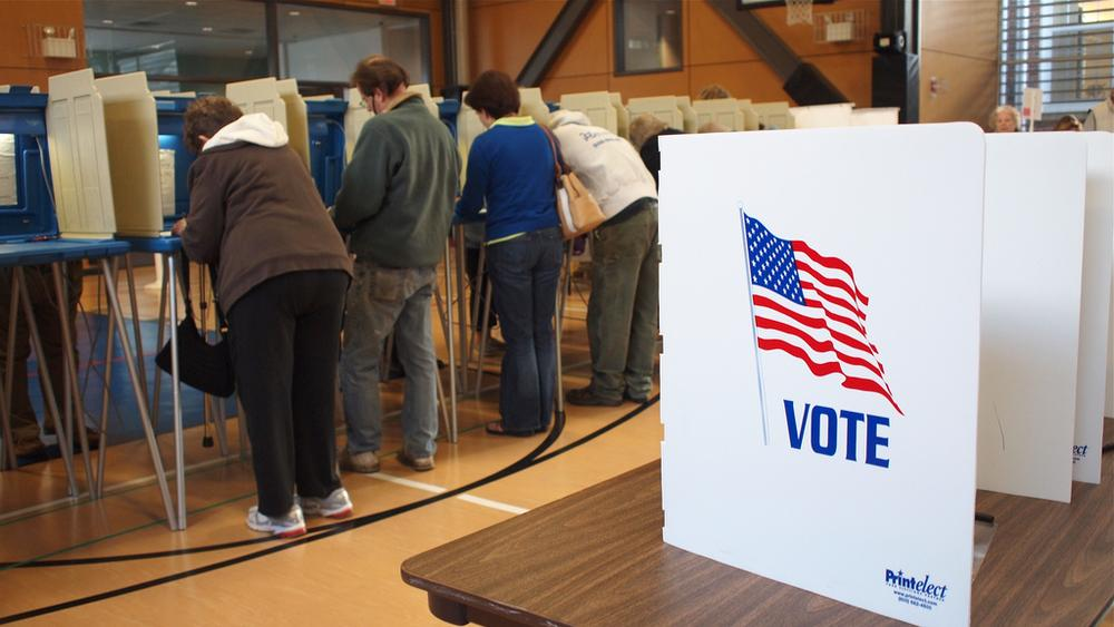 Voters in Chatham on Tuesday morning (Chris Seufert/Flickr)