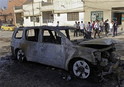 A string of bombings targeted Christian houses in Baghdad killing and wounding several people, police said. (AP)