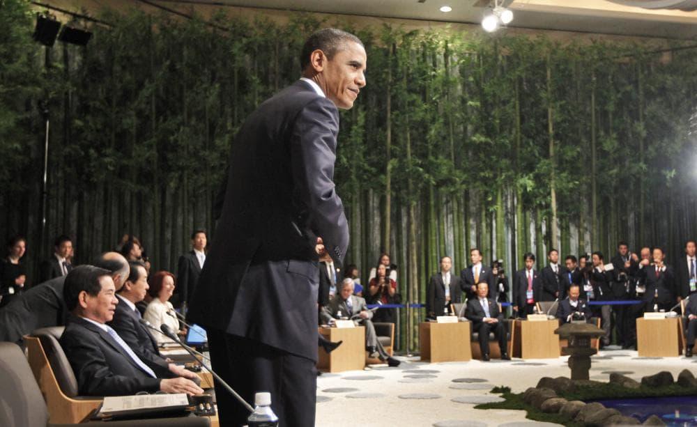 President Obama attends the Leaders Retreat at the APEC summit in Yokohama, Japan, Saturday. (AP)