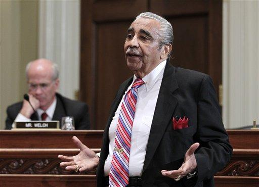 Rep. Charles Rangel, D-N.Y., appears on Capitol Hill in Washington, Monday, Nov. 15, 2010, before the House Committee on Standards of Official Conduct hearing. (AP)