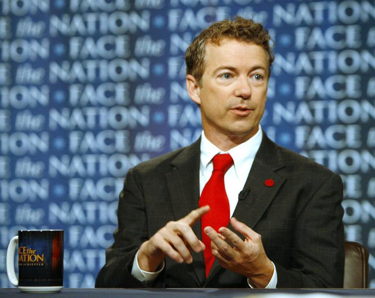 Sen.-elect Rand Paul, a proponent of cutting taxes, responds to a question on CBS's Face the Nation in Washington. (AP)