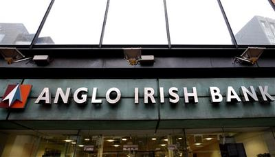 The northern headquarters of the Anglo Irish Bank in Belfast, Northern Ireland.  (AP)