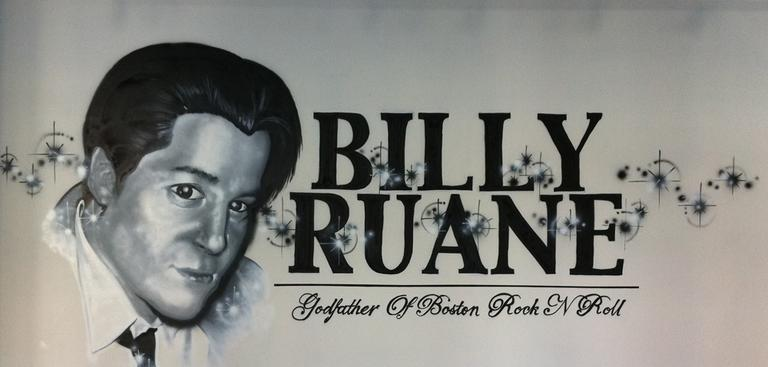 A graffiti tribute to Billy Ruane at the offices of the Boston Phoenix. (Chris Devers/Flickr)