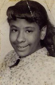 Marie Evans, 10, in 1958.