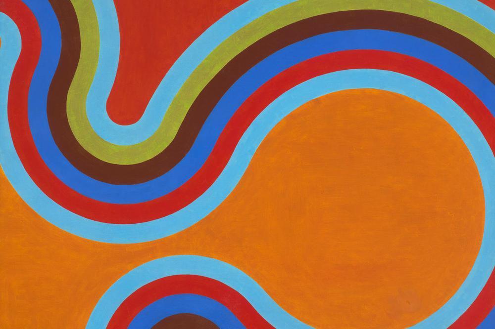 """""""Staccato,"""" César Paternosto, 1965. Oil on canvas. (Courtesy of the Museum of Fine Arts, Boston)"""