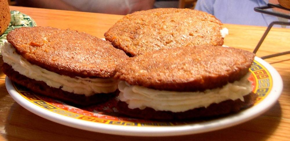 Carrot Whoopie Pies from Phil Hughes' Black Bean Cafe in Rollinsford, NH.
