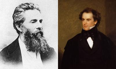 Herman Melville and Nathaniel Hawthorne (WikiMedia Commons, AP)