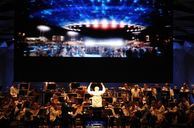 John Williams conducted the Boston Pops' Film Night on Aug. 14 this year. (Hilary Scott/courtesy BSO)