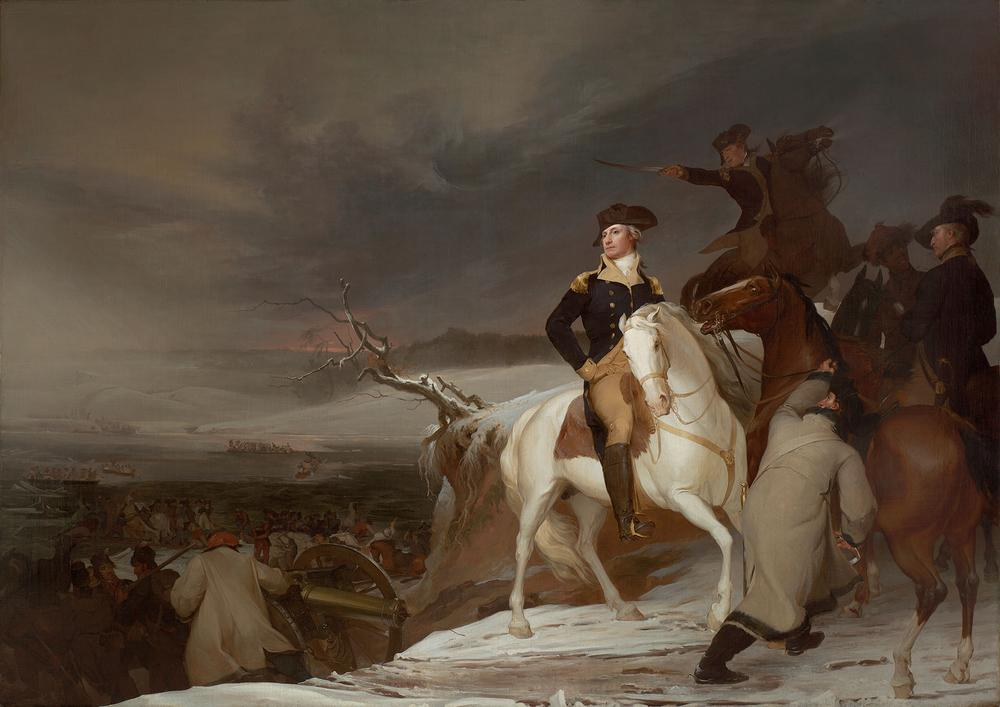"""The Passage of the Delaware,"" oil on canvas, Thomas Sully, 1819 (Courtesy of the Museum of Fine Arts, Boston)"
