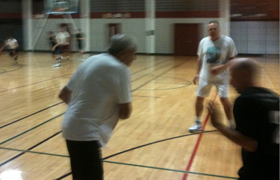 Abe Gold, 79, plays regular basketball