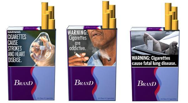 Some of the new warning labels the FDA is considering for cigarettes