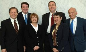 Dr. Helen Mayberg is third from left