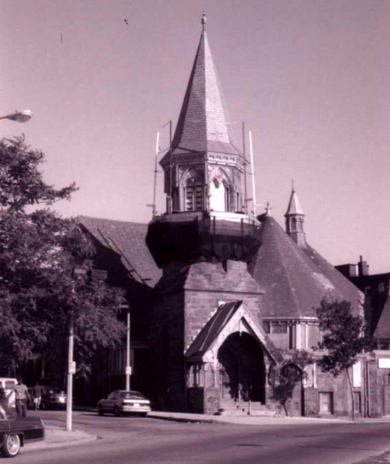 Roxbury Presbyterian Church before restoration (Historic Boston Inc.)