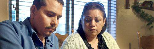 Francisco Felix and his wife Flor Felix. Felix is one of dozens of Arizona patients who need liver transplants but can't get them because of moneysaving budget cuts to the state's Medicaid system. (AP)